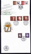 A4396) Litauen 6 Verschiedene FDC 1994 Dabei Block 4 - Lithuania