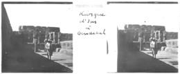 H0166 ,- Plaque VERASCOPE RICHARD - EGYPTE - Temple De DENDERAH Ou Trouve La Chapelle De Hathor. - Plaques De Verre