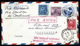 A4400) US Luftpost-Brief Von Los Angeles 2.8.1933 Nach Buchschlag - Briefe U. Dokumente