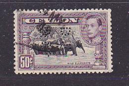 CEYLAN - Perforé-Perfin-Perforés-Perfins -  D F & Co     - - Ceylan (...-1947)