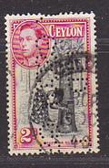 CEYLAN - Perforé-Perfin-Perforés-Perfins -  GSCOY / LTD     - - Ceylan (...-1947)
