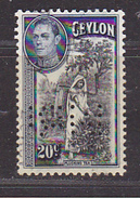 CEYLAN - Perforé-Perfin-Perforés-Perfins -  M  B I    - - Ceylan (...-1947)