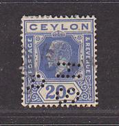 CEYLAN - Perforé-Perfin-Perforés-Perfins -  H S / ?    - - Ceylan (...-1947)
