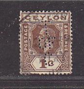 CEYLAN - Perforé-Perfin-Perforés-Perfins -  T /OF / C    - - Ceylan (...-1947)