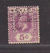 CEYLAN - Perforé-Perfin-Perforés-Perfins -  T  / & Co    - - Ceylan (...-1947)