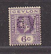 CEYLAN - Perforé-Perfin-Perforés-Perfins -  V.B.    - - Ceylan (...-1947)