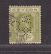 CEYLAN - Perforé-Perfin-Perforés-Perfins -  W & / Co.    - - Ceylan (...-1947)