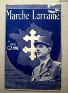 Partition Marche Lorraine - Louis Ganne  -  De Gaulle - Partituras