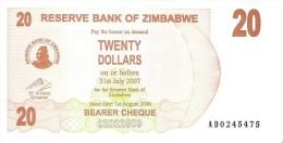 Zimbabwe - Pick 40 - 20 Dollars 2006 - Unc - Zimbabwe