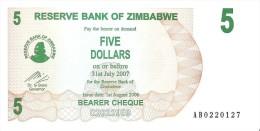 Zimbabwe - Pick 38 - 5 Dollars 2006 - Unc - Zimbabwe