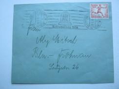 1936 , Berlin - Olympiade , Seltener Maschinenstempel Auf Brief Mit Olympiamarke