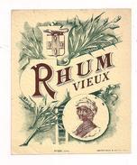 Etiquette   RHUM  Vieux - Imp. Haberer, Douin & Jouneau - Années 1910 - - Rhum