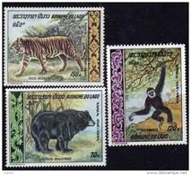 Laos P. A.  N°  59 / 61  X  Animaux Sauvages,  La Série Des 3 Valeurs Trace De Charnière Sinon TB - Laos