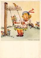 CPSM ILLUSTRATEUR ENFANT RUTH FETZER HOLZAEPFEL ARTIST SIGNED - Illustrateurs & Photographes