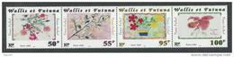 Wallis Et Futuna N° 550 / 53  XX Dessins D´enfants Fleurs Les 4 Valeurs En Bande (livrée Pliée) Sans Charnière TB