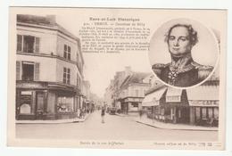 *b* DREUX - Carrefour De Billy - Entrée De La Rue De Parisis - En Médaillon, Général De Billy - édit. G. Foucault, 312 - Dreux