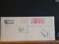 A7016  REGISTRED LETTER  1965  OBL. ROUGE - Lettres & Documents