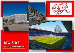 3) AK Stadion Postkarte Basel-St. Jakob Park FC Joggeli Schweiz Fußball SUISSE Stade Football Stadium Stadio Estadio - Fussball