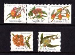 Australia 1982 Eucalypts Set Of 5 Used - - - 1980-89 Elizabeth II