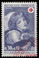 France 1971. ~ YT 1700 - Croix-Rouge. Jeune Fille Au Petit Chien - Oblitérés
