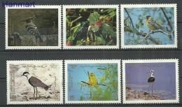 Jordan 1987 Mi 1358-1363 MNH -  Sparrows Songbirds Ptaki Wodne  ( ZS10 JRD1358-1363 )