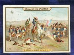 Chromo Chocolat Planteur 37 Bataille De Fleurus 26 Juin 1794 Jourdan Révolution - Chocolat