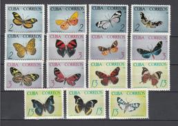 Cuba 1965,15V,set,butterflies,vlinders,schmetterlinge,papillons,mariposas,farfalle,MNH/Postfris(A2061) - Butterflies