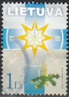 Lietuva 2002 Michel 804 O Cote (2013) 0.80 Euro Noël Symbole De Fin De L'année Cachet Rond - Lituanie