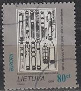 Lietuva 1994 Michel 555 O Cote (2013) 2.00 Euro Europa CEPT Kazimieras Simonavicius Construction De Fusées Cachet Rond - Lituanie