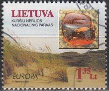 Lietuva 1999 Michel 694 O Cote (2013) 1.30 Euro Europa CEPT Réserve Naturelle Isthme De Courlande Cachet Rond - Lituanie