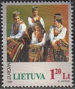 Lietuva 1998 Michel 664 O Cote (2013) 2.00 Euro Europa CEPT Costumes Traditionnels Cachet Rond - Lituanie