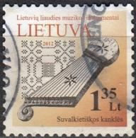 Lietuva 2012 Michel 1091I O Cote (2013) 1.00 Euro Hackbrett Cachet Rond - Lituanie