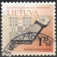 Lietuva 2012 Michel 1091II O Cote (2013) 1.00 Euro Hackbrett Cachet Rond - Lituanie