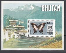 Bhutan1975,1V In Block,butterflies,vlinders,schmetterlinge,papillons,mariposas,farfalle,MNH/Postfris(L2920) - Vlinders