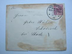 1897 , MSP Nr. 5 , Klarer Stempel Auf Brief Mit Absenderangabe SMS  Prinzess Wilhelm - Deutschland