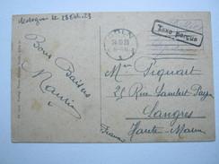 1923 , CÖLN , Taxe Percue , Klarer Stempel Auf Karte Nach Frankreich Aus Köln - Deutschland