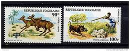 Rep. Togo **  PA N° 252/253 - Chasse Au Togo - Togo (1960-...)