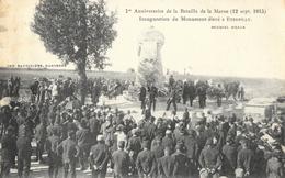 1er Anniversaire De La Bataille De La Marne (12 Sept. 1915), Inauguration Du Monument élevé à Etrepilly - Monuments Aux Morts