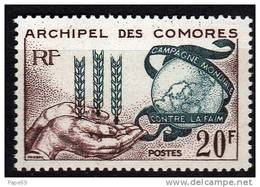 Comores N° 26 X   Campagne Mondiale Contre La Faim Trace De Charnière Sinon TB