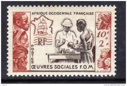 A. O. F. N° 45 XX Au Profit Des Oeuvres Sociales De La France D´Outre-Mer, Sans Charnière, TB