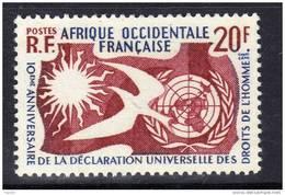A. O. F. N° 74 XX 10ème Ann.e De La Déclaration Universelle Des Droits De L´Homme Sans Charnière TB