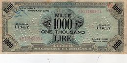 1000 LIRE FALSO MILITARY - Unknown Origin