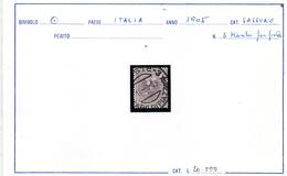 1905 MARCA DA BOLLO USATA PER POSTA - 1900-44 Vittorio Emanuele III