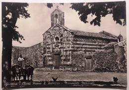 SARDEGNA - ORISTANO - GHILARZA - CHIESA PISANA S.PALMERIO MONUMENTO NAZIONALE -  FORMATO GRANDE - VIAGGIATA 1960 - BELLA - Oristano