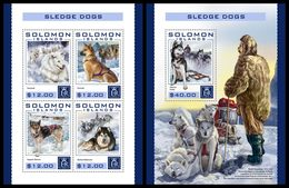SOLOMON Isl. 2016 - Sledge Dogs. M/S + S/S - Other Means Of Transport