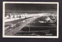 CPSM BRESIL - BRASILIA - Vista Noturna - Superbe Plan Et Vue De La Ville La Nuit Avec Lumières - Brasilia