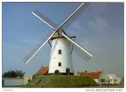 KOEKELARE (W.Vl.) - Molen/moulin - De Gerestaureerde Hovaeremolen Tegen Een Fraaie Wolkenlucht (1997). - Koekelare