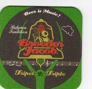 Sous-bock Coaster Broeder Jacob Tripel Triple 'Beer Is Music!' - Sous-bocks