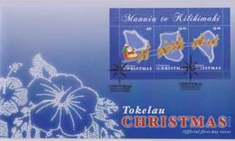 Tokelau FDC Block Mi 49 Christmas - Santa Claus Sled - Reindeer - 2013 - Tokelau
