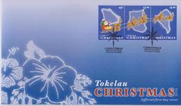 Tokelau FDC Mi 432-434 Christmas - Santa Claus Sled - Reindeer - 2013 - Tokelau